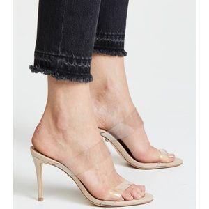 Schutz   BNIB Suede Ariella Stiletto Nude Sandals